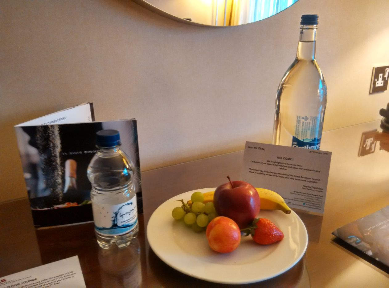 marriott-london-regents-park-welcome-gift
