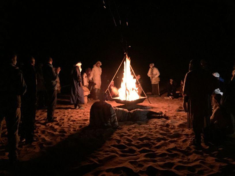 merzouga-bonfire