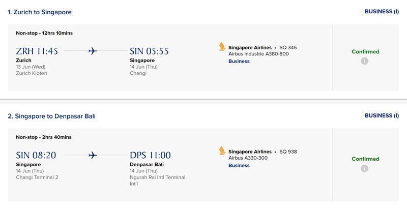 汉莎里程妙用:兑换新加坡航空商务舱机票