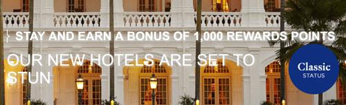 两个雅高的活动:英国四倍积分,费尔蒙/瑞士酒店一千点奖励积分
