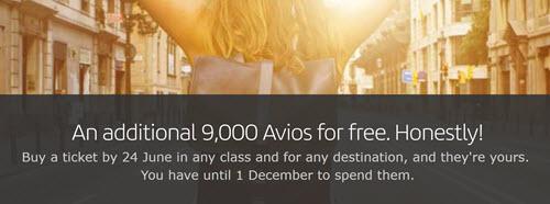 Iberia闪促活动:每购买一张机票获得9000点Avios奖励
