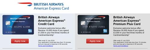 运通英航卡提高开卡奖励 – 10000 & 30000 Avios