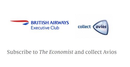 £12订阅《经济学人》,获得1050点Avios奖励
