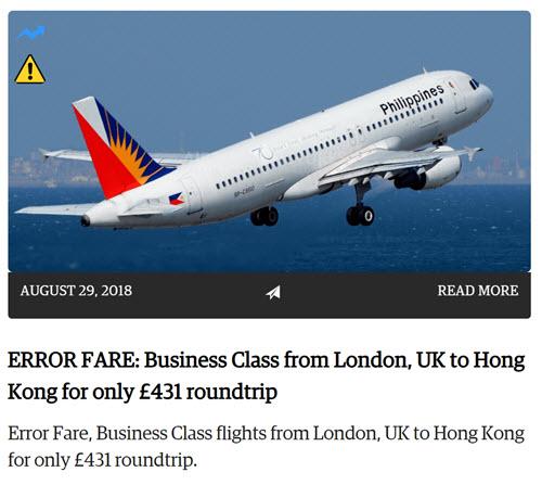 """买了我人生中的第一张""""虫票""""(伦敦-香港商务舱往返£590)"""