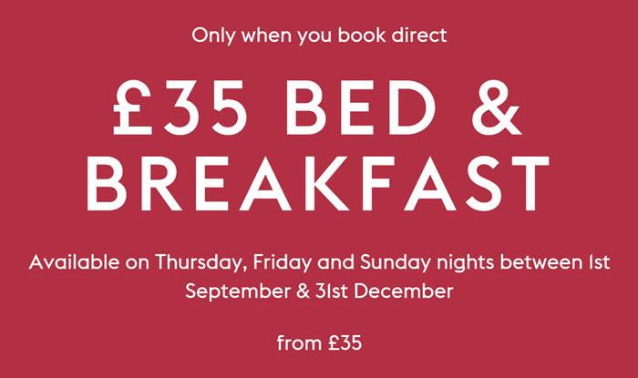 Village Hotels促销 – 英国酒店双人含早£35起