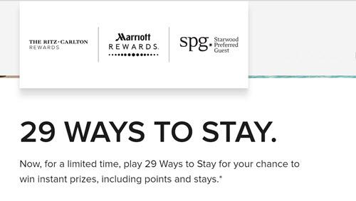 万豪的29 Ways抽奖活动终于开始了,快来试试手气