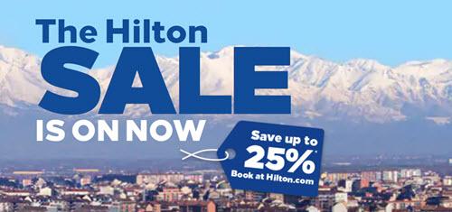 希尔顿促销:欧洲/中东/非洲冬春季七五折