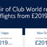 英国航空双人同行优惠,伦敦-北美商务舱往返£890起