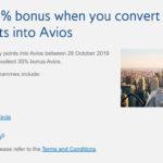 酒店积分(万豪、IHG等)转为Avios可获得35%额外奖励